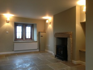 The window and log burner are lovely and the renovation has been done beautifully, but there's nothing to make you go 'wow!'