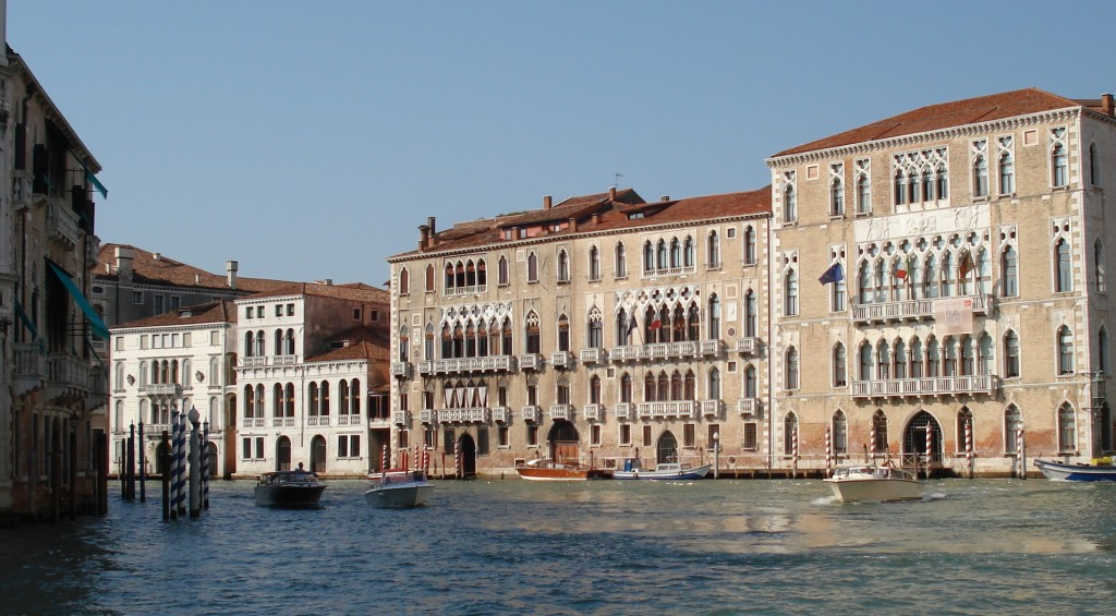Palazzo facades on the Grand Canal, Venice