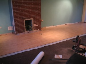 Installing laminate flooring in the living area