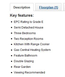 Make sure your estate agent is using the Rightmove 'Key Features' properly!