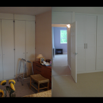 This bedroom was dark, tired and too personal. New wardrobe doors, fresh
