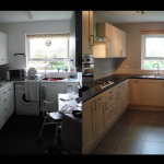 This tired and dated kitchen was completely removed, and replaced with a neutral but stylish design that no-one could object to.