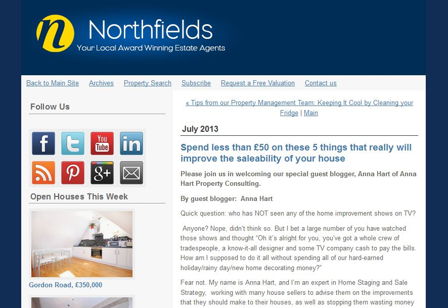 Guest blog for top London agency Northfields