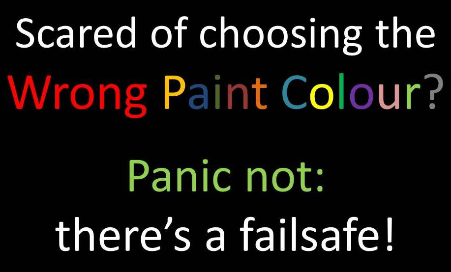 If in doubt, use THIS paint colour