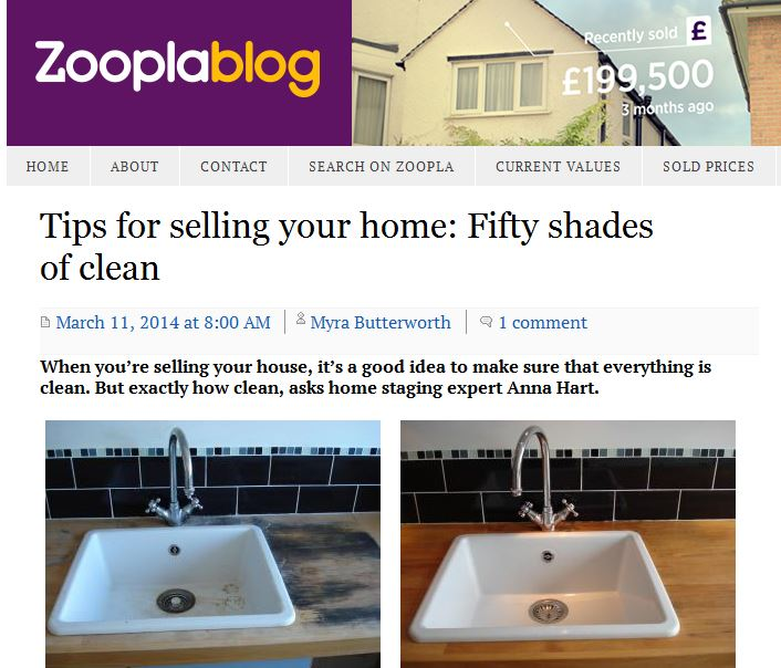 Latest Zoopla post: 50 Shades of Clean