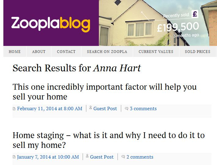 I write for Zoopla!