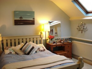 Tidy bedroom in a property for sale
